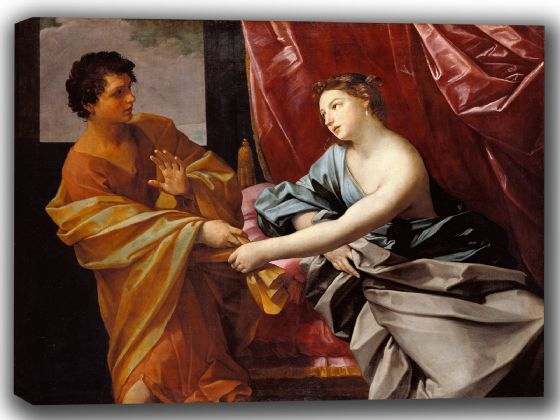 Reni, Guido: Joseph and Potiphar's Wife. Fine Art Canvas. Sizes: A4/A3/A2/A1 (002107)